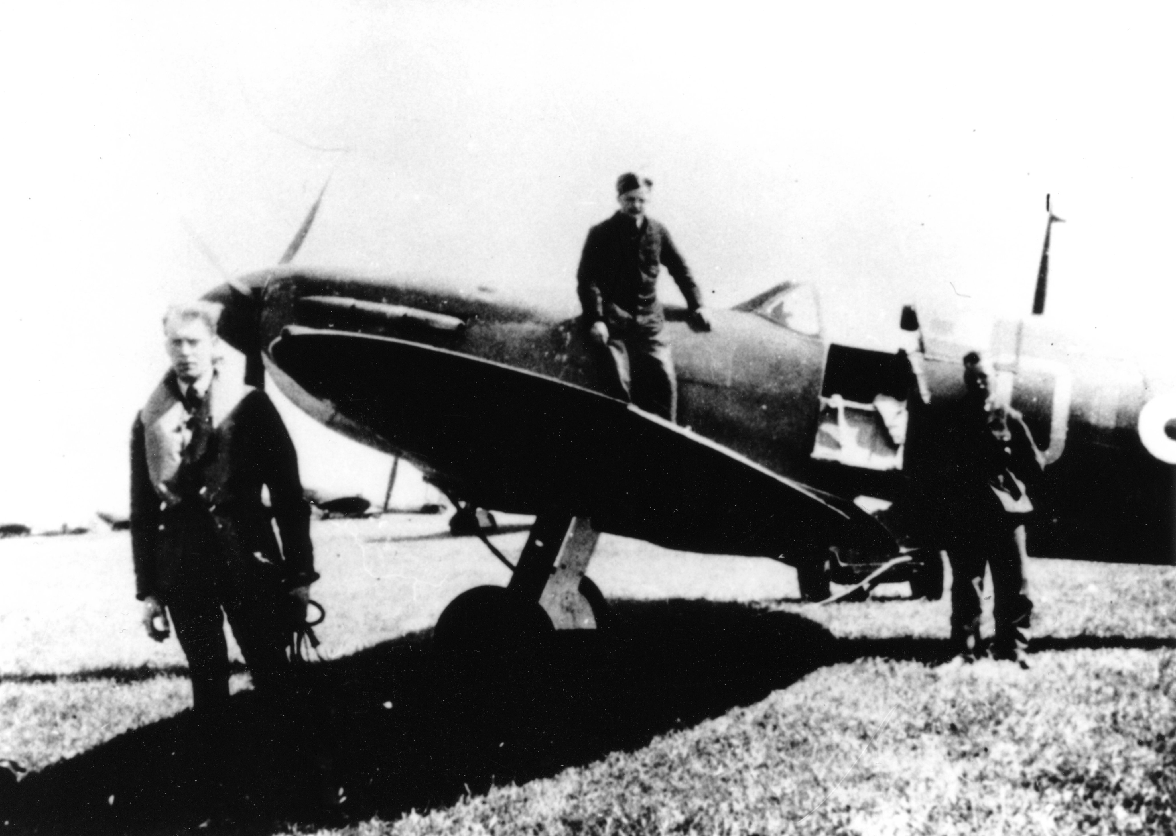 Bob and his first Spitfire