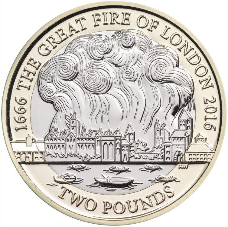 Great Fire of London coin