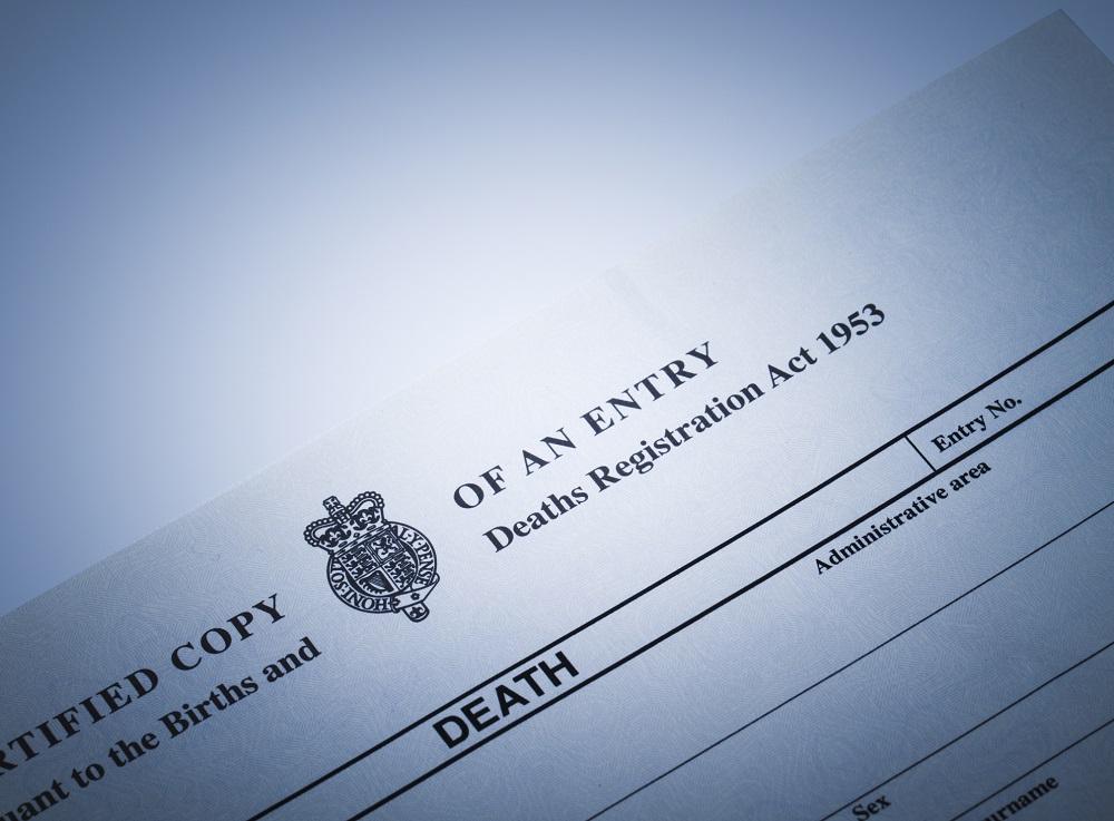 Death Certifcate UK