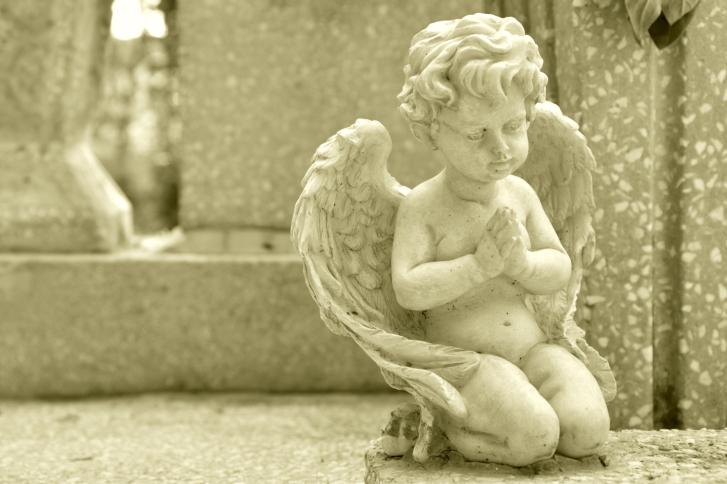 garden stone cherub