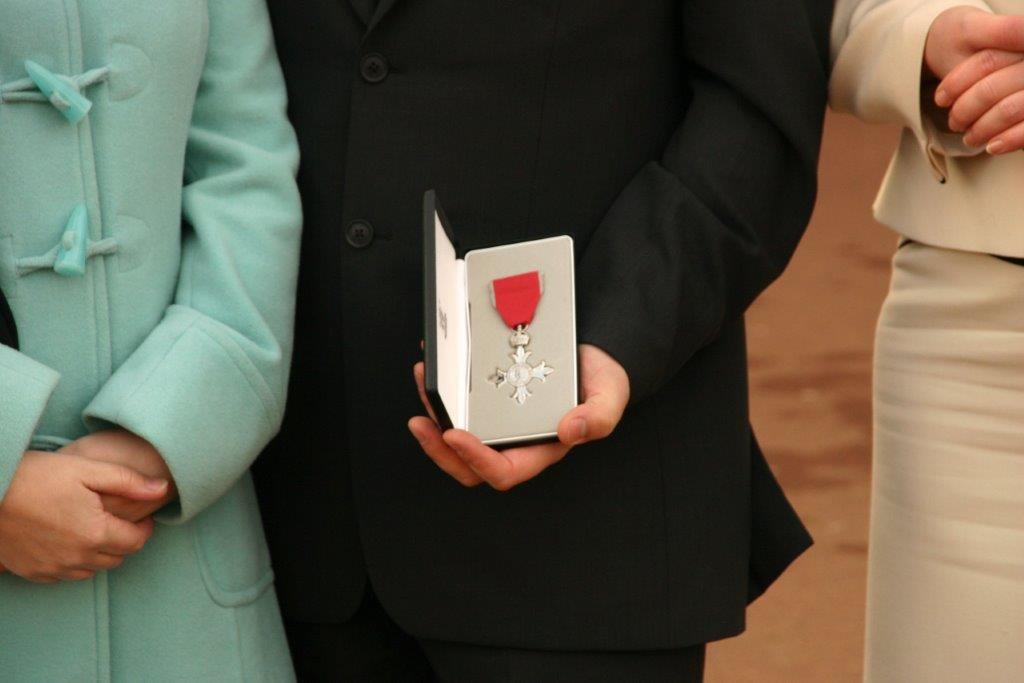 man with mbe