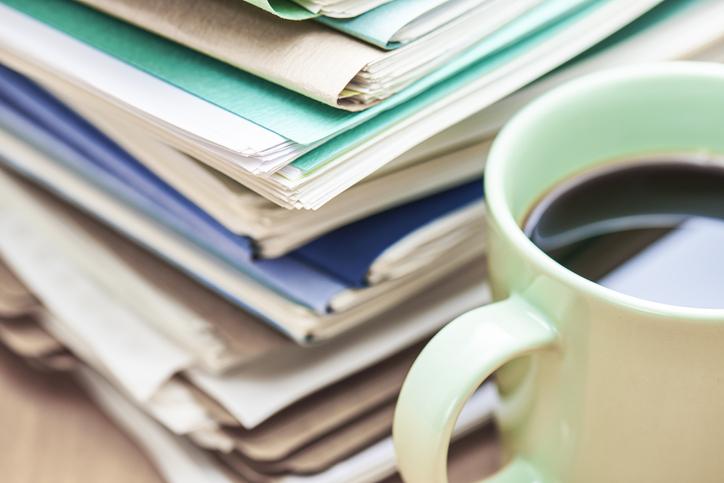 pile of files denoting admin