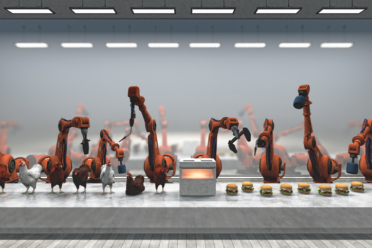robots and burgers