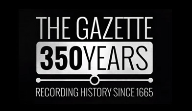 350 years of The Gazette