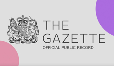 How to customise your Gazette company profile