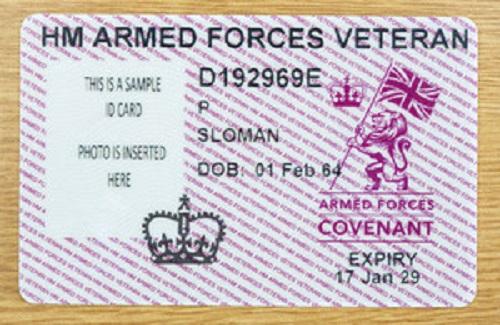MOD Veterans ID Card
